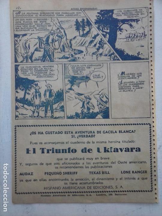 Tebeos: GACELA BLANCA ORIGINAL 1949 - LOTE NºS - 2,3,5,6,7,8,9,10,11,12,13,14,15,16,17,18,19,20,21 - Foto 18 - 107829823