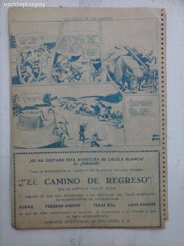 Tebeos: GACELA BLANCA ORIGINAL 1949 - LOTE NºS - 2,3,5,6,7,8,9,10,11,12,13,14,15,16,17,18,19,20,21 - Foto 30 - 107829823