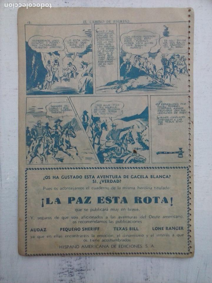 Tebeos: GACELA BLANCA ORIGINAL 1949 - LOTE NºS - 2,3,5,6,7,8,9,10,11,12,13,14,15,16,17,18,19,20,21 - Foto 49 - 107829823