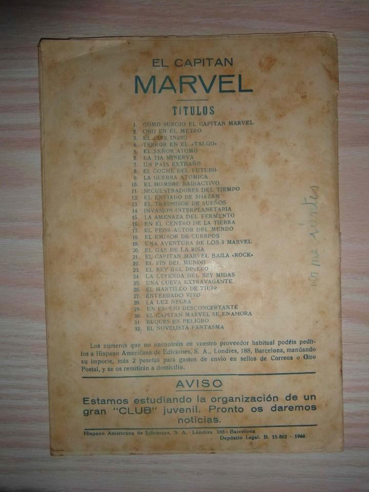 Tebeos: El Capitan Marvel. Buques en peligro nº 31. Hispano Americana. Original - Foto 5 - 94407466