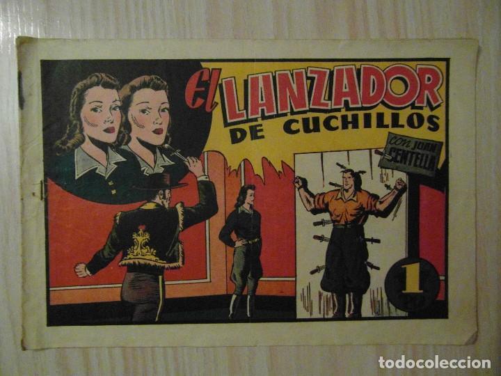 EL LANZADOR DE CUCHILLOS. Nº 69 DE AUDAZ. HISPANO AMERICANA.1940.C. COSSIO.FUTBOL TROMPI GRANADA (Tebeos y Comics - Hispano Americana - Otros)