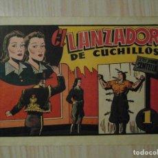 Tebeos: EL LANZADOR DE CUCHILLOS. Nº 69 DE AUDAZ. HISPANO AMERICANA.1940.C. COSSIO.FUTBOL TROMPI GRANADA. Lote 108115963