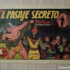 Tebeos: EL PASAJE SECRETO. Nº 18 DE TARZAN EL HOMBRE MONO. HISPANO AMERICANA. 1942. FOTO FUTBOL DE ZARRA. Lote 108118195
