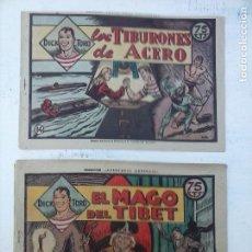 Tebeos: DICK TORO ORIGINALES NºS 14 Y 18 HISPANO AMERICANA - COLECCIÓN AVENTURAS MODERNAS. Lote 108130663