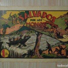 Tebeos: SALVADOS POR LOS MONOS. Nº 33 DE JORGE Y FERNANDO. HISPANO AMERICANA. 1940. LYMAN YOUNG. Lote 108233747