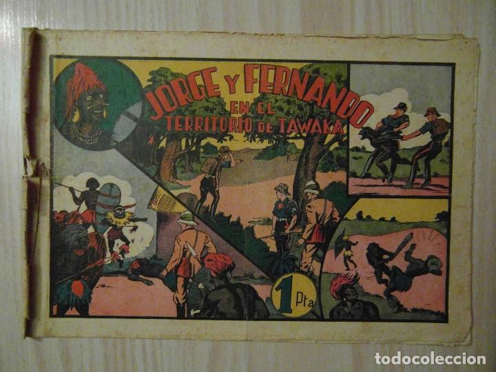 EN EL TERRITORIO DE TAWAKA. Nº 34 DE JORGE Y FERNANDO. HISPANO AMERICANA. 1940. LYMAN YOUNG (Tebeos y Comics - Hispano Americana - Jorge y Fernando)