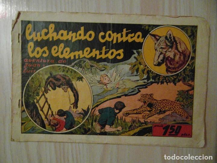 LUCHANDO CONTRA LOS ELEMENTOS. Nº 9 JUAN Y LUIS. HISPANO AMERICANA. 1942. GIOVE TOPPI (Tebeos y Comics - Hispano Americana - Otros)