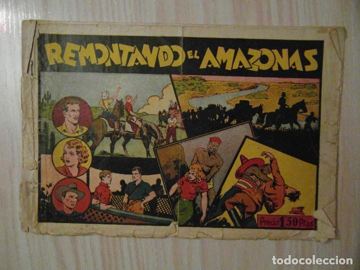 REMONTANDO EL AMAZONAS. Nº 9 JUAN Y LUIS. HISPANO AMERICANA. 1942. GIOVE TOPPI (Tebeos y Comics - Hispano Americana - Otros)