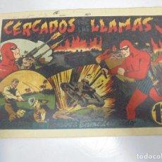 Tebeos: TEBEO. AVENTURA DEL HOMBRE ENMASCARADO. Nº 55. CERCADOS POR LAS LLAMAS. Lote 108704747