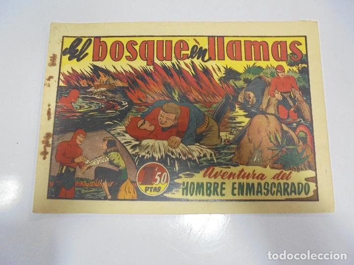 TEBEO. AVENTURA DEL HOMBRE ENMASCARADO. Nº 45. EL BOSQUE EN LLAMAS (Tebeos y Comics - Hispano Americana - Hombre Enmascarado)