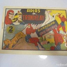 Tebeos: TEBEO. AVENTURA DEL HOMBRE ENMASCARADO. Nº 88. ADIOS A TRONDELAY. Lote 108707023