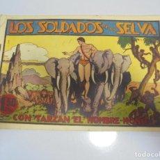 Tebeos: TEBEO. LOS SOLDADOS DE LA SELVA CON TARZAN EL HOMBRE-MONO. ORIGINAL. HISPANO AMERICANA DE EDICIONES. Lote 108708827