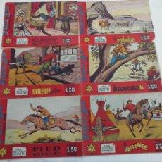 Tebeos: BUFFALO BILL HISPANO AMERICANA ORIGINALES NºS 17,21,25,29,30,50 - 1958, TOMAS MARCO, D. MARGALEF. Lote 108747631