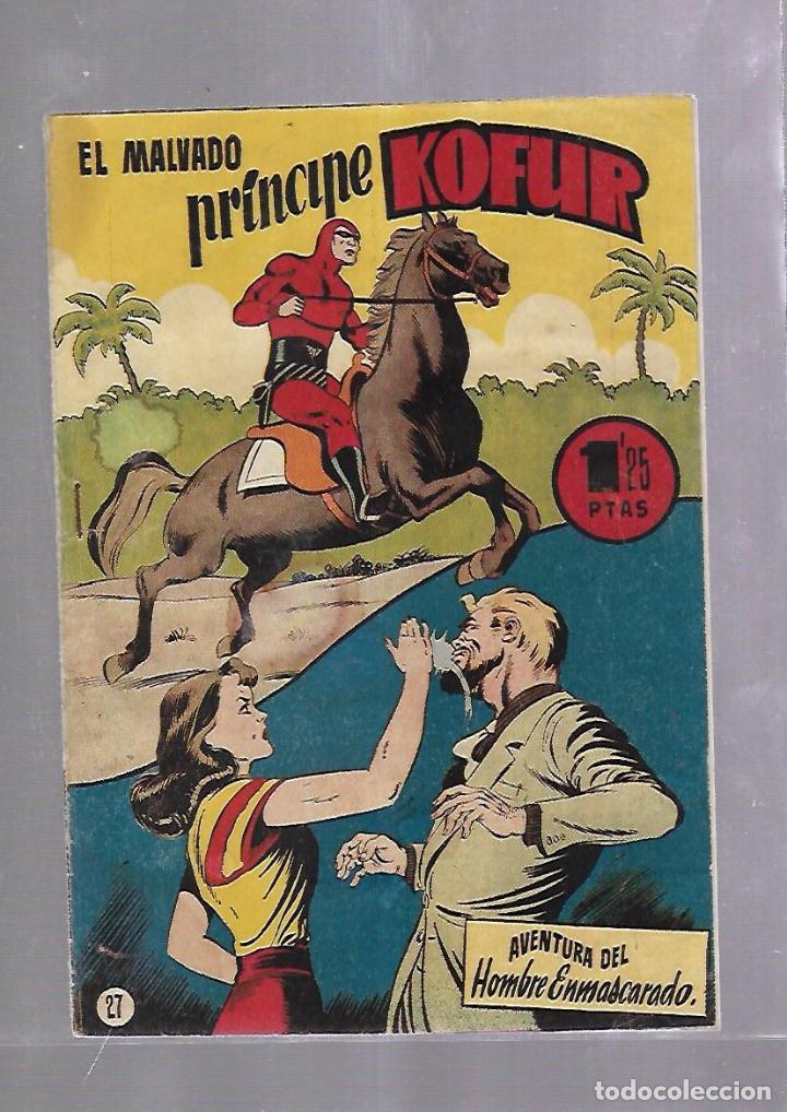 TEBEO. EL MALVADO PRINCIPE KOFUR. AVENTURA DEL HOMBRE ENMASCARADO. Nº 27 (Tebeos y Comics - Hispano Americana - Hombre Enmascarado)
