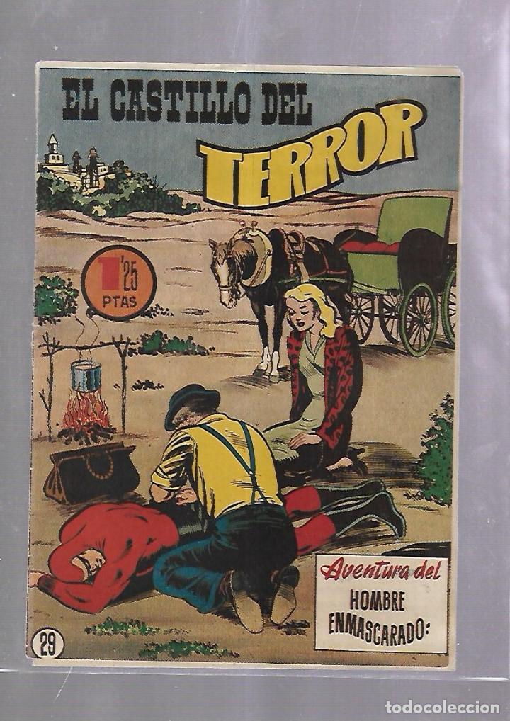 TEBEO. EL CASTILLO DEL TERROR. AVENTURA DEL HOMBRE ENMASCARADO. Nº 29 (Tebeos y Comics - Hispano Americana - Hombre Enmascarado)