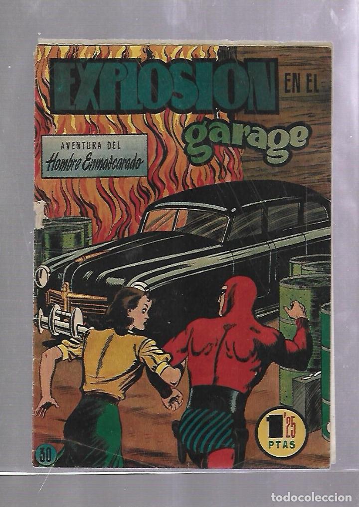 TEBEO. EXPLOSIONEN EL GARAGE. AVENTURA DEL HOMBRE ENMASCARADO. Nº 30 (Tebeos y Comics - Hispano Americana - Hombre Enmascarado)