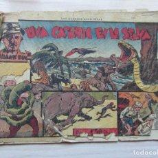 Tebeos: UNA CACERIA EN LA SELVA. Nº 2 DE FRANK BUK. CAZANDO FIERAS VIVAS. HISPANO AMERICANA. 1941. Lote 109159043