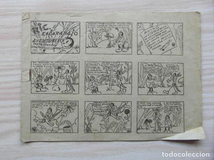 RIC, EL ESCARABAJO AVENTURERO. Nº 1 DE INFANTIL DE LAS GRANES AVENTURAS. HISPANO AMERICANA. 1943 (Tebeos y Comics - Hispano Americana - Otros)