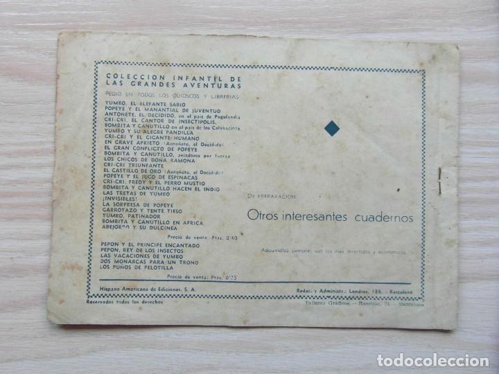 Tebeos: Ric, el escarabajo aventurero. Nº 1 de infantil de las granes aventuras. Hispano Americana. 1943 - Foto 2 - 109165739