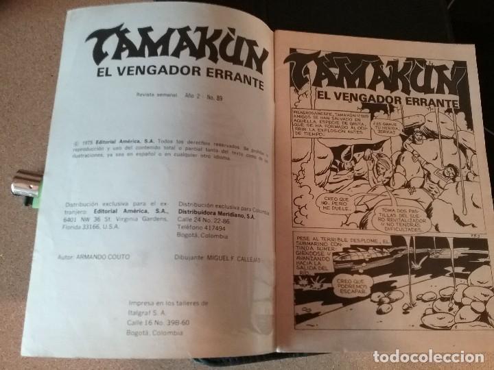 Tebeos: Comic tama?ún el vengador errante Venezuela año 2 número 89 EDITORIAL América - Foto 3 - 110291823
