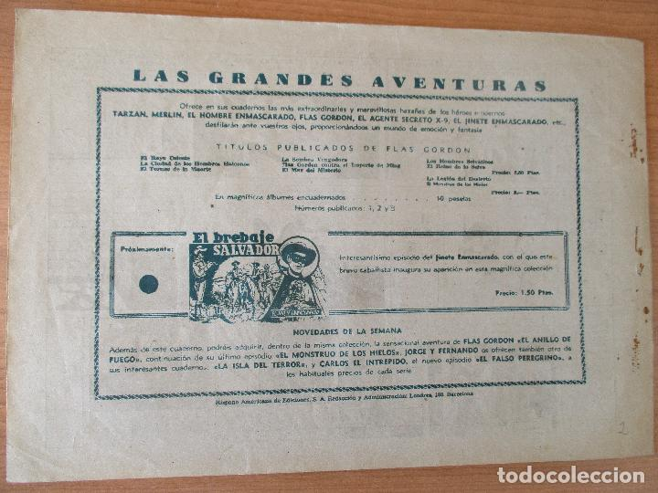 Tebeos: FLAS GORDON Nº 2. ORIGINAL HISPANO AMERICANA. - Foto 2 - 110367595