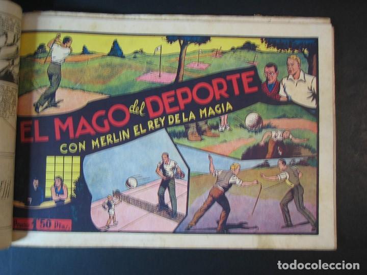 Tebeos: MERLIN (1942, HISPANO AMERICANA) LOTE Nº : 1 AL 21 - Foto 9 - 110589503
