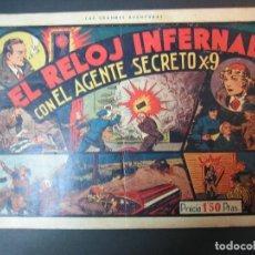 Tebeos: AGENTE SECRETO X-9 ( 1941,HISPANO AMERICANA) LOTE DE 5 Nº : 2,5,6,7,8. Lote 110672591
