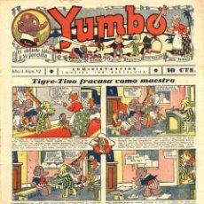 Tebeos: YUMBO-12 (HISPANO AMERICANA, 1935). Lote 111777339