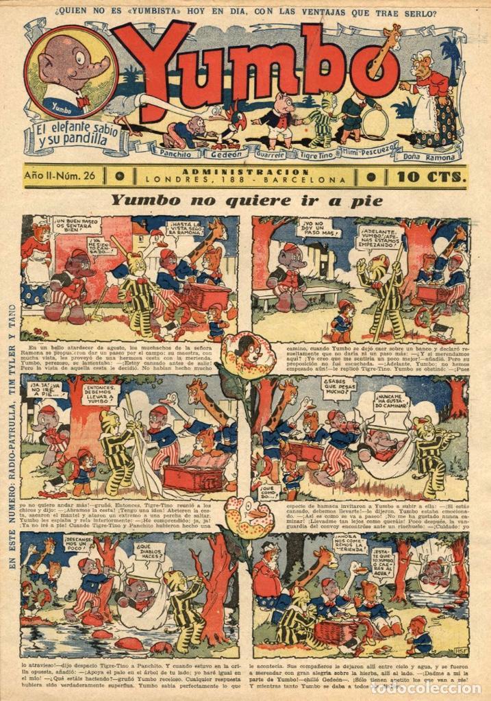 YUMBO-26 (HISPANO AMERICANA, 1935) CON TIM TYLER DE LYMAN YOUNG Y RADIO PATROL DE SCHMIDT Y SULLIVAN (Tebeos y Comics - Hispano Americana - Yumbo)