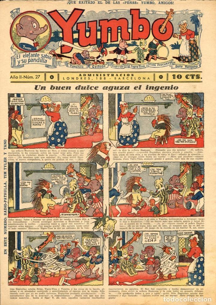 YUMBO-27 (HISPANO AMERICANA, 1935) CON TIM TYLER DE LYMAN YOUNG Y RADIO PATROL DE SCHMIDT Y SULLIVAN (Tebeos y Comics - Hispano Americana - Yumbo)