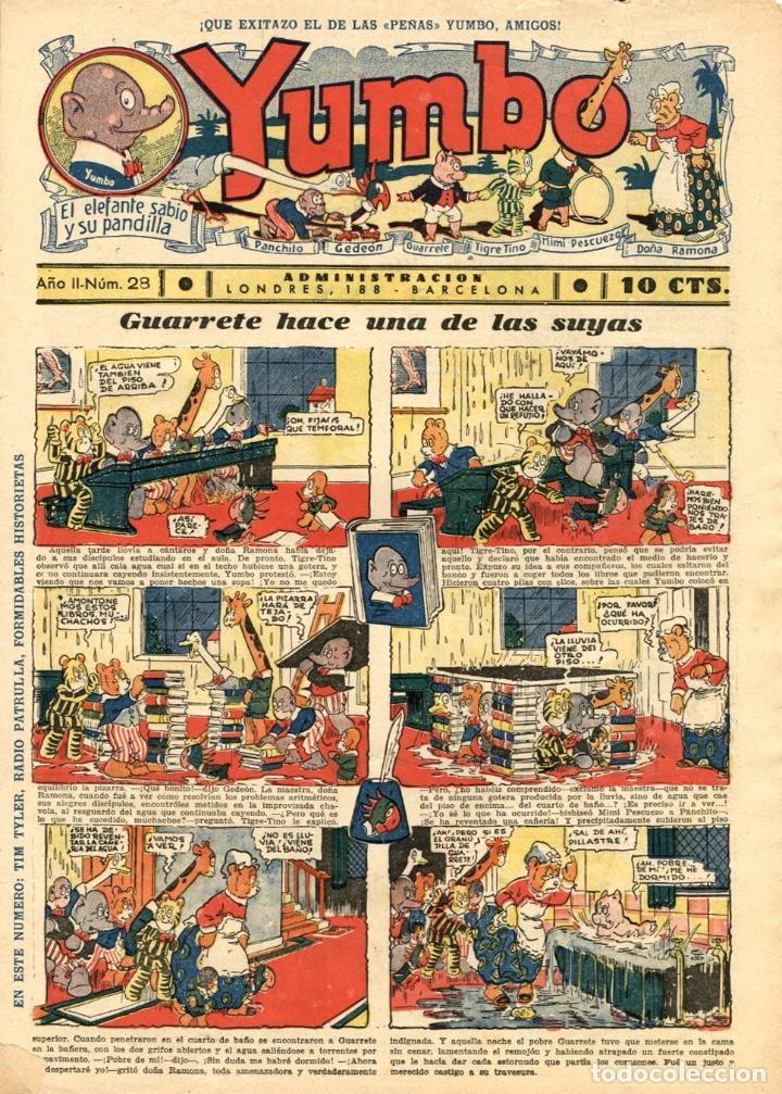 YUMBO-28 (HISPANO AMERICANA, 1935) CON TIM TYLER DE LYMAN YOUNG Y RADIO PATROL DE SCHMIDT Y SULLIVAN (Tebeos y Comics - Hispano Americana - Yumbo)
