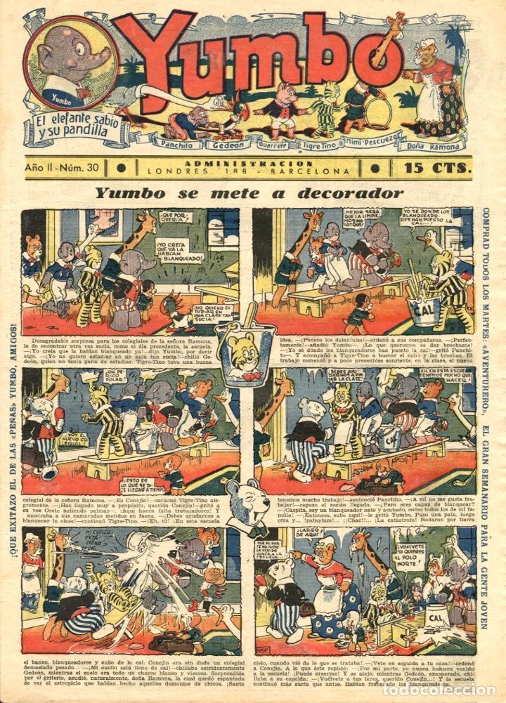 YUMBO-30 (HISPANO AMERICANA, 1935) CON TIM TYLER DE LYMAN YOUNG Y RADIO PATROL DE SCHMIDT Y SULLIVAN (Tebeos y Comics - Hispano Americana - Yumbo)