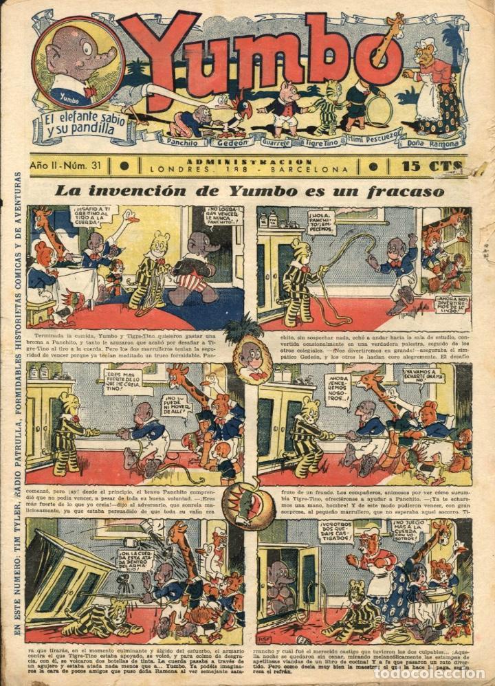 YUMBO-31 (HISPANO AMERICANA, 1935) CON TIM TYLER DE LYMAN YOUNG Y RADIO PATROL DE SCHMIDT Y SULLIVAN (Tebeos y Comics - Hispano Americana - Yumbo)
