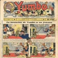 Tebeos: YUMBO-31 (HISPANO AMERICANA, 1935) CON TIM TYLER DE LYMAN YOUNG Y RADIO PATROL DE SCHMIDT Y SULLIVAN. Lote 111923575