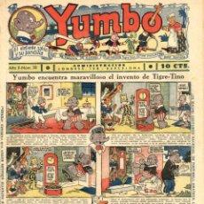 Tebeos: YUMBO-38 (HISPANO AMERICANA, 1935) CON LA PRIMERA DOMINICAL DE TIM TYLER A COLOR, CON PACO PEREDA. Lote 111927671