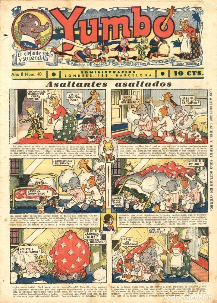 YUMBO-40 (HISPANO AMERICANA, 1935) CON LA PÁGINA DOMINICAL DE TIM TYLER A COLOR, CON PACO PEREDA (Tebeos y Comics - Hispano Americana - Yumbo)