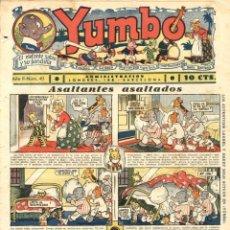 Tebeos: YUMBO-40 (HISPANO AMERICANA, 1935) CON LA PÁGINA DOMINICAL DE TIM TYLER A COLOR, CON PACO PEREDA. Lote 111927799