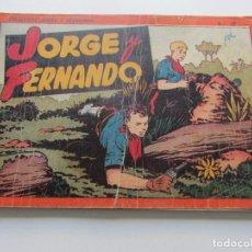 Tebeos: AVENTURAS DE JORGE Y FERNANDO TOMO ROJO Nº 2 ED. HISPANA AMERICANA AÑOS 40 ORIGINAL 95SADUR. Lote 112247675