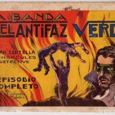 Tebeos: LA BANDA DEL ANTIFAZ VERDE. JUAN CENTELLA EL HERCULES DETECTIVE. COLECCION AUDAZ. ORIGINAL. Lote 112965187