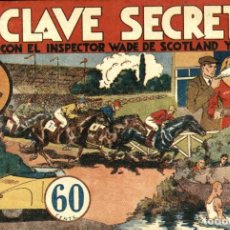 Tebeos: INSPECTOR WADE: LA CLAVE SECRETA (HISPANO AMERICANA, 1941). DE ANDERSON Y WALLACE. Lote 113514763
