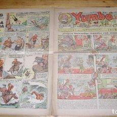 Tebeos: YUMBO 1935 EL NUMERO 53 CARPETA BIBLIOTECA. Lote 114125675