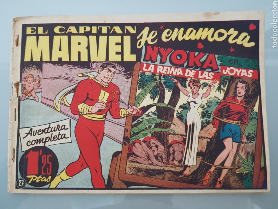 EL CAPITÁN MARVEL SE ENAMORA 27 ORIGINAL 1947 HISPANO AMERICANA COMPLETO (Tebeos y Comics - Hispano Americana - Capitán Marvel)