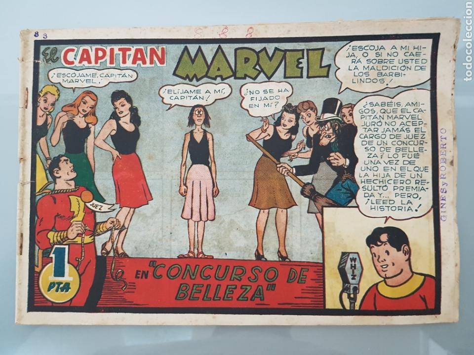 EL CAPITÁN MARVEL CONCURSO DE BELLEZA 3 ORIGINAL 1947 HISPANO AMERICANA COMPLETO (Tebeos y Comics - Hispano Americana - Capitán Marvel)