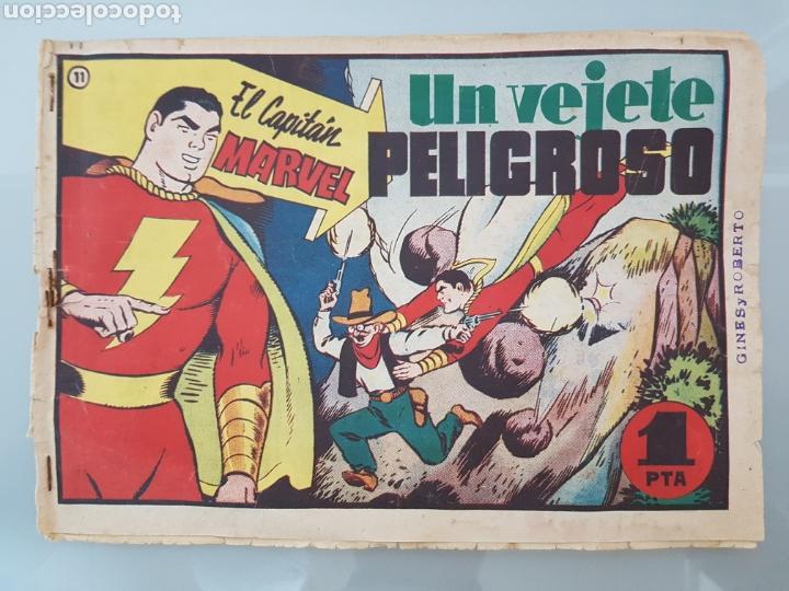 EL CAPITÁN MARVEL VEJETE PELIGROSO 11 ORIGINAL 1947 HISPANO AMERICANA COMPLETO (Tebeos y Comics - Hispano Americana - Capitán Marvel)