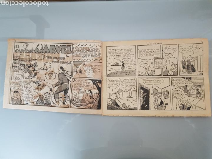 Tebeos: EL CAPITÁN MARVEL VEJETE PELIGROSO 11 ORIGINAL 1947 HISPANO AMERICANA COMPLETO - Foto 2 - 114335731