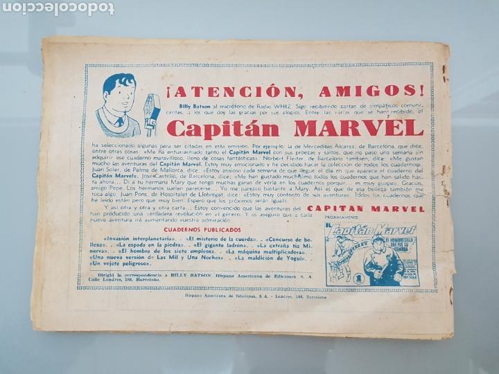 Tebeos: EL CAPITÁN MARVEL VEJETE PELIGROSO 11 ORIGINAL 1947 HISPANO AMERICANA COMPLETO - Foto 9 - 114335731