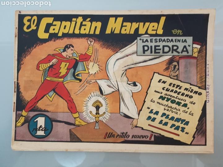 EL CAPITÁN MARVEL LA ESPADA EN LA PIEDRA 4 ORIGINAL 1947 HISPANO AMERICANA COMPLETO (Tebeos y Comics - Hispano Americana - Capitán Marvel)