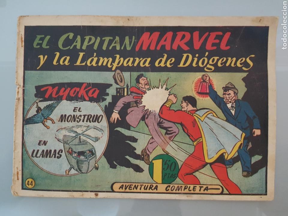 EL CAPITÁN MARVEL LA LÁMPARA DE DIOGENES 44 ORIGINAL 1947 HISPANO AMERICANA COMPLETO (Tebeos y Comics - Hispano Americana - Capitán Marvel)