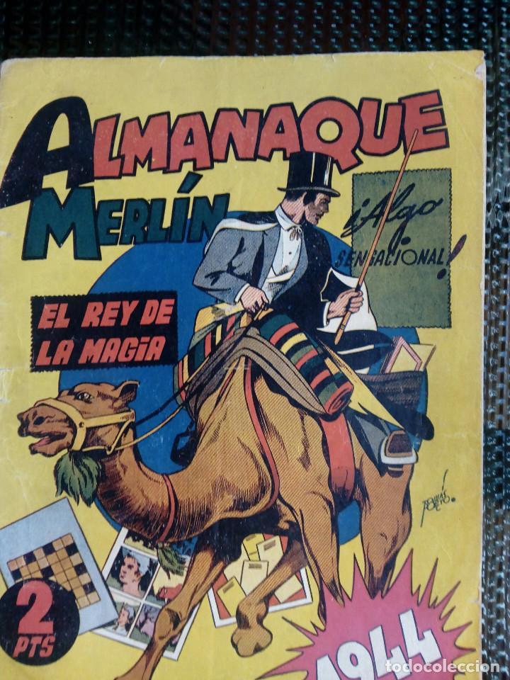ALMANAQUE MERLIN 1944 - ORIGINAL - EDC. HISP. AMER. (M-1) (Tebeos y Comics - Hispano Americana - Merlín)
