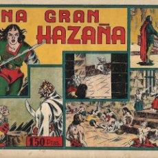 Tebeos: LAS GRANDES AVENTURAS, AÑO 1941. Nº 8. UNA GRAN HAZAÑA, ORIGINAL ES MUY DIFICIL DIBUJANTE G. IRANZO. Lote 116959103